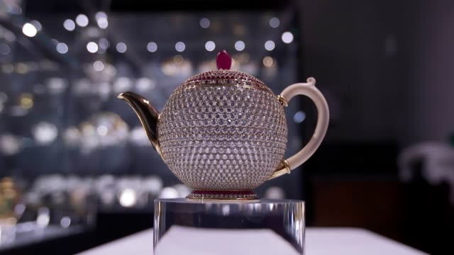 the chitra collection – the world's largest collection of historic teawares and home to the world's most valuable teapot – to exhibit select pieces... - beneficiary stock videos & royalty-free footage