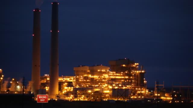 The Cholla coal powered electrical plant Joseph City Arizona time lapse
