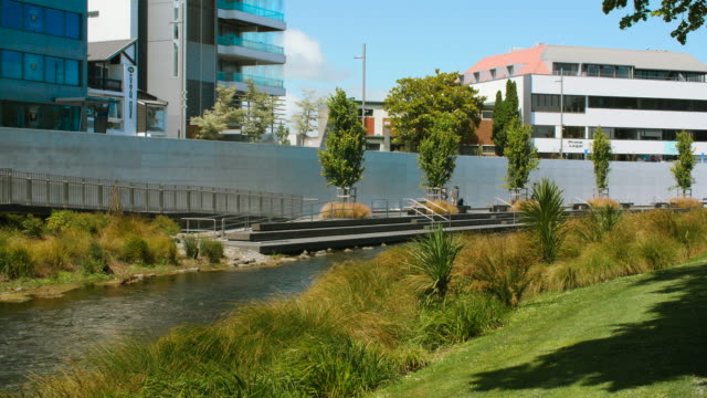 the christchurch earthquake memorial on the banks of the river avon - new zealand culture stock videos & royalty-free footage