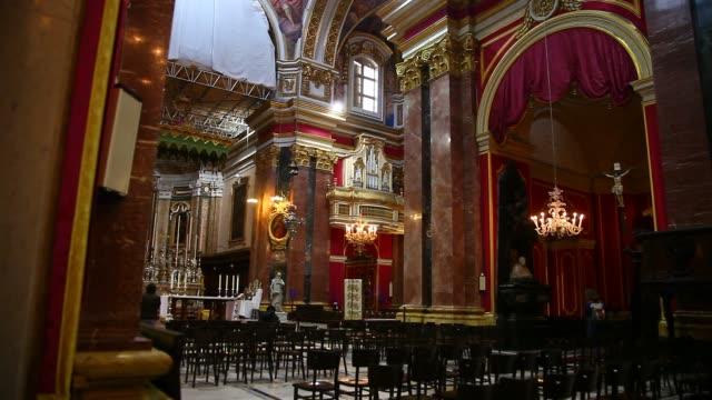 the church in mdina - circa 12th century stock videos & royalty-free footage