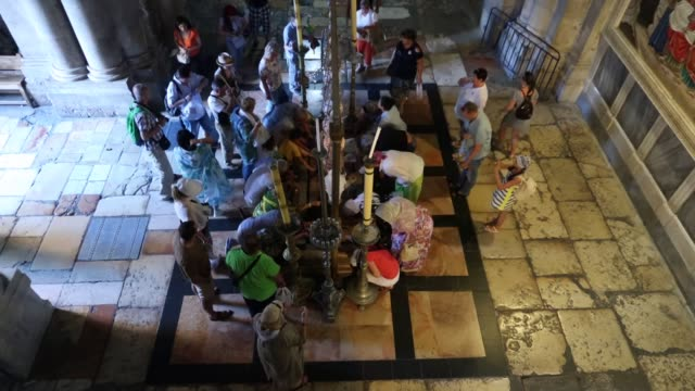 the church of holy sepulchre - east jerusalem stock videos and b-roll footage