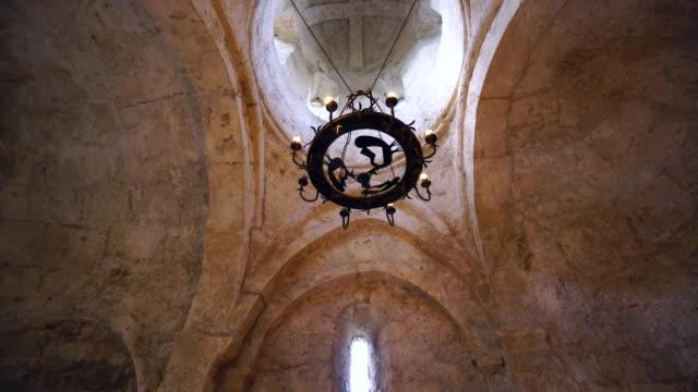 vídeos de stock e filmes b-roll de the church of kish or church of saint elishe or holy mother of god church - circa 13th century
