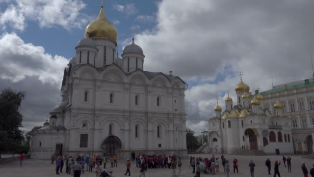 the churches inside the kremlin (kreml) - onion dome stock videos and b-roll footage