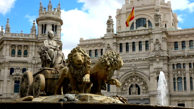 the cibeles fountain madrid - madrid stock videos and b-roll footage