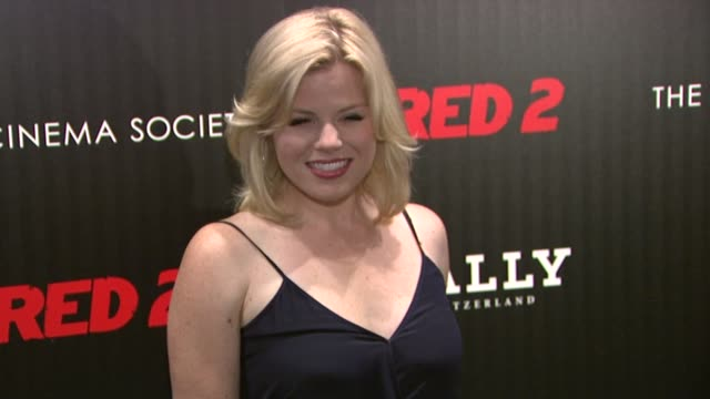 """the cinema society and bally host a screening of summit entertainment's """"red 2"""" at museum of modern art on july 16, 2013 in new york, new york - megan hilty stock videos & royalty-free footage"""
