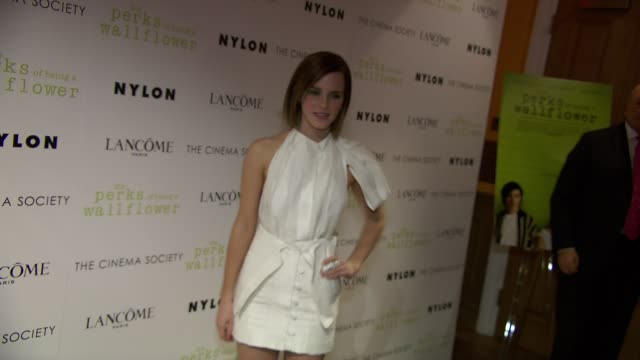 The Cinema Society With Lancome Nylon Host A Screening Of The Perks Of Being A Wallflower at Crosby Street Hotel on September 13 2012 in New York New...