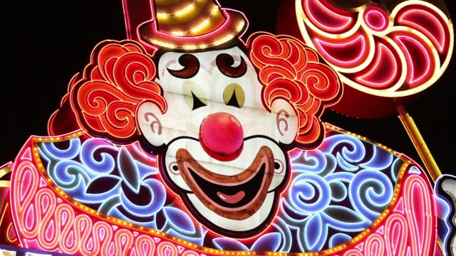 the circus circus hotel in las vegas, nevada, usa at night. - clown stock videos & royalty-free footage