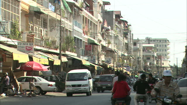 the city center: long shot. - phnom penh stock videos and b-roll footage