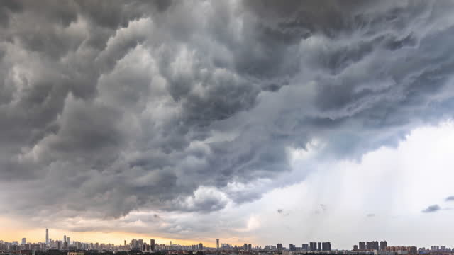 the city is threatened by black clouds - mystery stock videos & royalty-free footage