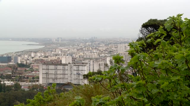 The city of Algiers sprawls along the Mediterranean coast. Available in HD.