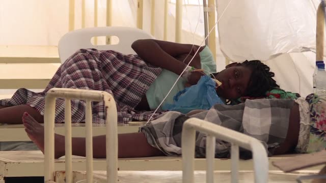the city of beria has established cholera treatment camps to battle a possible outbreak following cyclone idai - vibrio stock videos & royalty-free footage