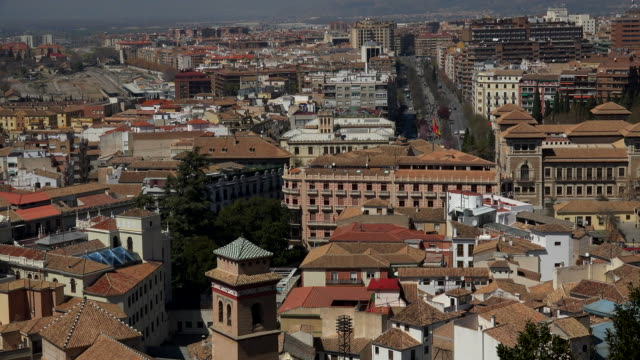 the city of granada, andalusia, spain - campo totale video stock e b–roll