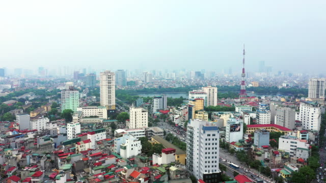 the city of hanoi by day - hanoi stock videos and b-roll footage
