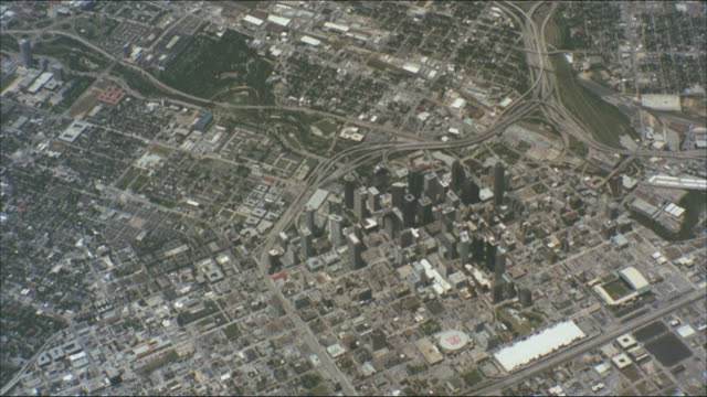 the city of houston, texas appears down below. - topography stock videos & royalty-free footage
