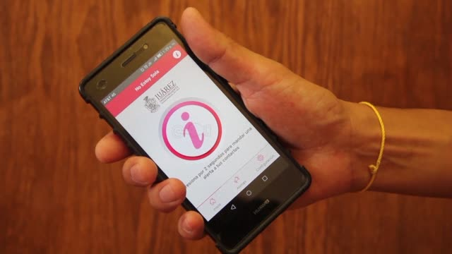 the city of juarez in mexico launches a smartphone app called i am not alone to allow women to send an alert to their contacts when they find... - occurrence stock videos & royalty-free footage