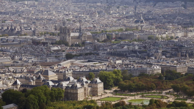 the city of paris in france. - notre dame de paris stock videos and b-roll footage