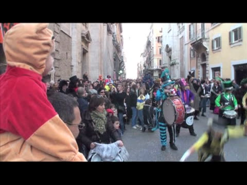 the city of rome kicked off 10 days of carnival over the weekend, reviving a tradition last observed in the italian capital in the eighth century.... - last stock videos & royalty-free footage
