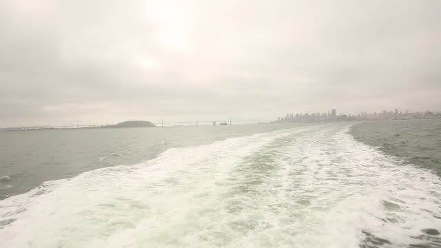 The city of San Francisco with the San Francisco Bay and boats in the foreground.