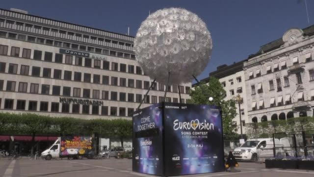 the city of stockholm and euriovision participants prepare for the final of the song contest - 61st eurovision song contest stock videos and b-roll footage