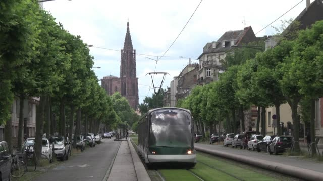 stockvideo's en b-roll-footage met the city of strasbourg in eastern france hopes to obtain a unesco world heritage site classification for its imperial german quarter - quarter