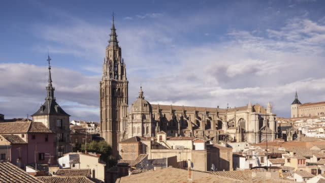 the city of toledo in spain. - spanish culture stock videos & royalty-free footage
