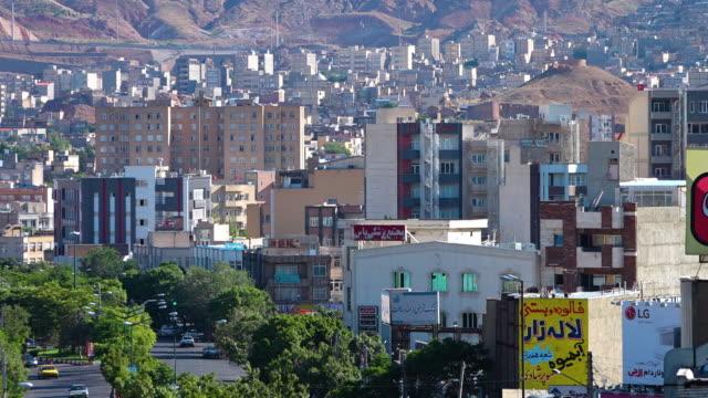 the city skyline of tabriz, iran - tehran stock videos & royalty-free footage