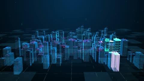 vídeos y material grabado en eventos de stock de la tecnología de la ciudad y el análisis digital 4k - villa asentamiento humano