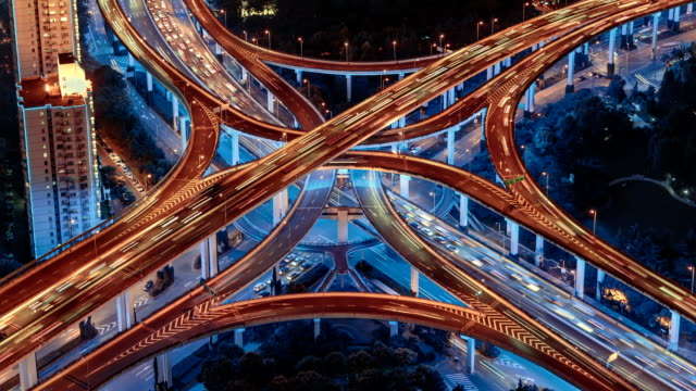 the city traffic hub