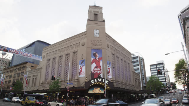 the civic theatre on queens street - spruchband stock-videos und b-roll-filmmaterial