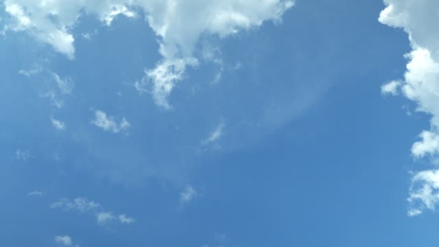 vidéos et rushes de le ciel clair avec un nuage - ciel seulement