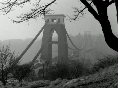 the clifton suspension bridge spans the river avon and avon gorge - suspension bridge stock videos & royalty-free footage