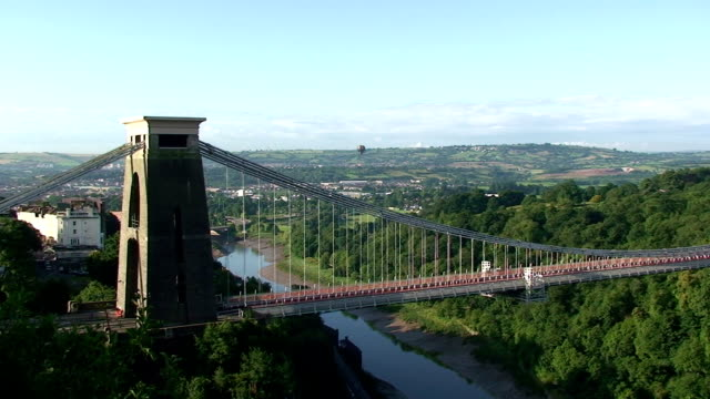 the clifton suspension bridge - bristol england stock videos & royalty-free footage