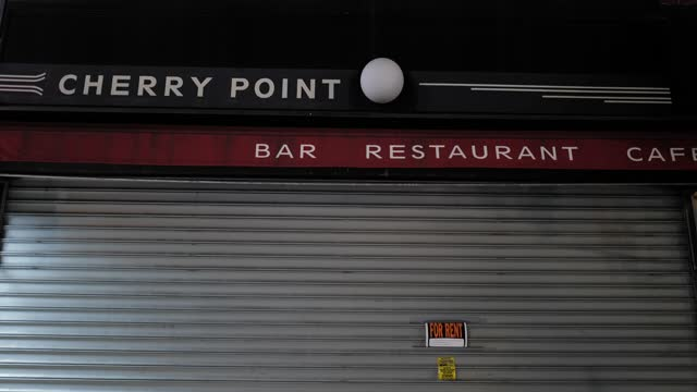 the closed store-front of cherry point bar during the global pandemic covid-19 in new york city, new york, united states of america - hipster culture stock videos & royalty-free footage