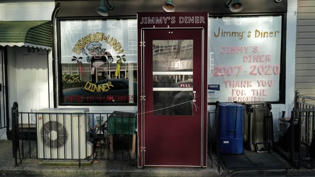 the closed store-front of jimmy's diner during the global pandemic covid-19 in new york city, new york, united states of america - hipster culture stock videos & royalty-free footage