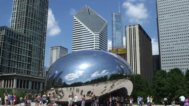 "The Cloud Gate Sculpture (aka ""The Bean Sculpture"") in Millenium Park, Chicago"