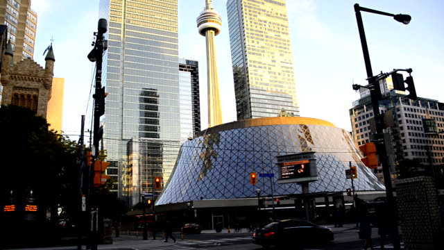 The CN Tower and Everyday Scenes of Downtown Toronto