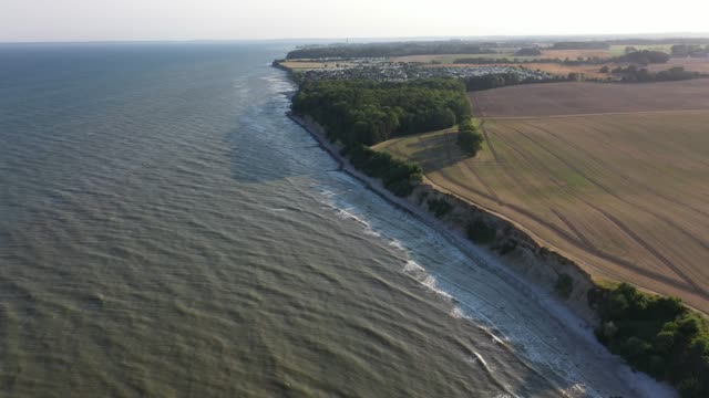 the coast and dunes near groemitz stand during the novel coronavirus crisis on august 13, 2020 in groemitz, germany. - ostsee stock-videos und b-roll-filmmaterial