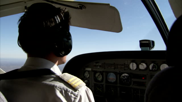 the cockpit of a light aircraft. available in hd - pilot stock videos and b-roll footage