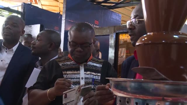 the cocoa crop of ivory coast the world's biggest producer increased 285 percent in 20162017 the conseil cafe cacao during the national cacao days... - côte d'ivoire stock videos & royalty-free footage