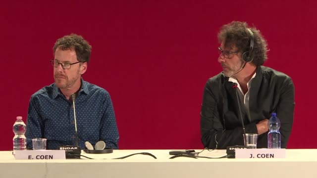 The Coen Brothers hold a press conference at the Venice Film Festival for their new film The Ballad of Buster Scruggs an anthology western following...