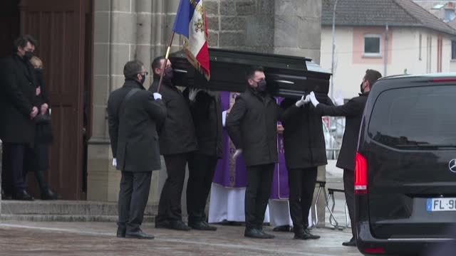 FRA: End of the funeral of French actor Robert Hossein in Vittel