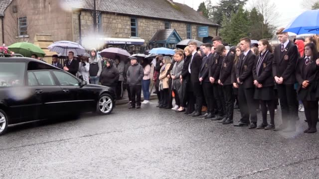 the coffin of lauren bullock one of the three victims of the cookstown hotel crush is carried into st patrick's church in nearby donaghamore adorned... - bull animal stock videos & royalty-free footage