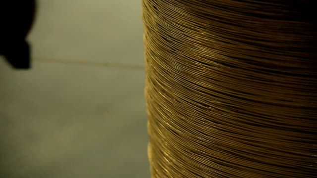 the coil with a copper wire - pulley stock videos & royalty-free footage
