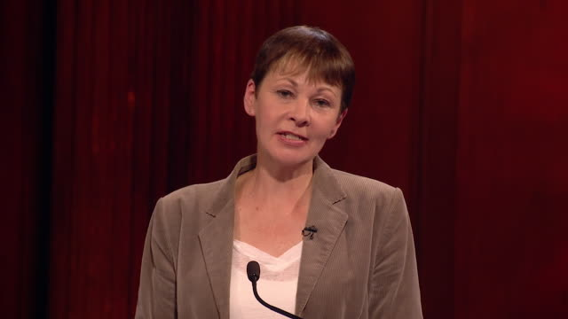 The CoLeader of the Green Party Caroline Lucas outlines in her final statement of the debate why you should vote Green on June 8th