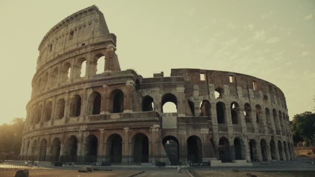 the coliseum of rome at dawn - colosseum rome stock videos and b-roll footage