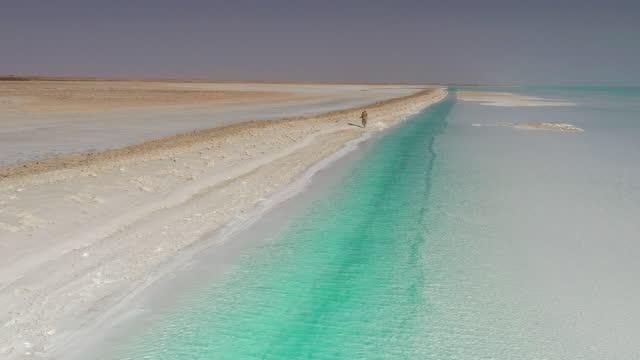 vídeos y material grabado en eventos de stock de el color del lago salado es increíble - área silvestre