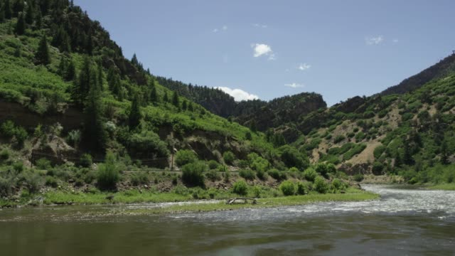 the colorado river off interstate-70 in western colorado - river colorado stock videos & royalty-free footage