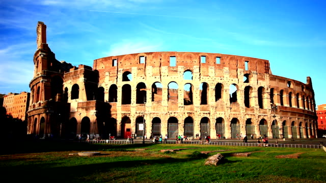 The Colosseum in Rome, cloud flowing
