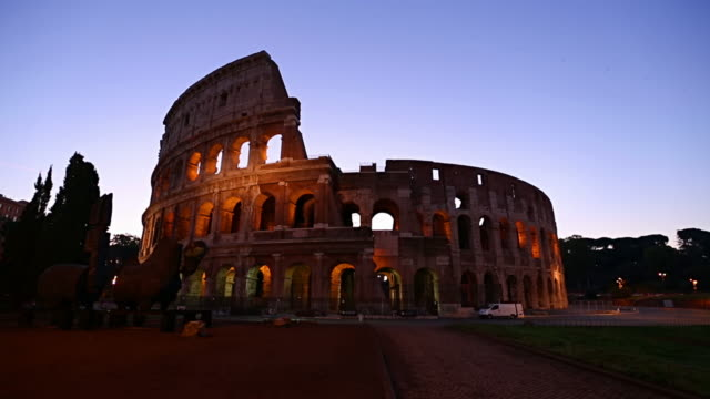the colosseum of rome, hd video - colosseum rome stock videos and b-roll footage