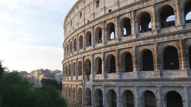 the colosseum, rome, italy - bogen architektonisches detail stock-videos und b-roll-filmmaterial
